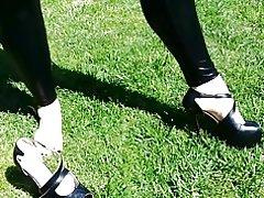 Wetlook lycra leggings